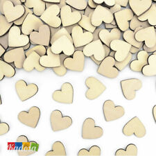 50 Confetti CUORE Legno Decorativi 20 mm - Diamantini Centrotavola Matrimonio