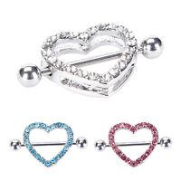 Hot Heart Shaped Nipple Shield Nipple Ring Steel Barbell Piercing Jewelry BR