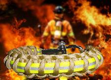 Firefighter Turnout Gear Paracord 550 Survival Bracelet w/ SS Adj Shackle- Khki