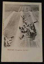 "1905/15's - MONTREAL TOBOGGANING ""THE SPILL"" Signed ""NOTMAN"" POSTCARD - ORIGINAL"