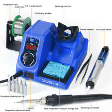 8-in-1 SMD Rework Station Hot Air Gun Soldering Iron DC Power Supply 130W ABS US