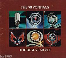1978 Pontiac Brochure:FIREBIRD-Formula,Trans-Am,GRAND PRIX/AM,LeMANS,BONNEVILLE,