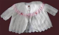 Baby Matinee Coat Knitting Pattern. Beautiful - DK + 4P