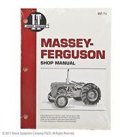 I&T Shop Manual for Massey Ferguson TO35 F40 MH50 MF35 MF50 MF202 MF204