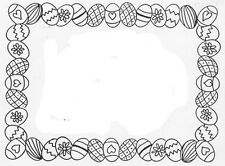 Unmounted Rubber Stamps, Easter Stamps, Easter Eggs, Easter Egg Frame, Seasonal