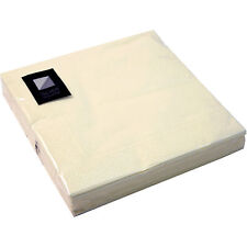 3 Ply Champagne/cream Paper Napkins 33 X 33cm Square Party Serviettes Tableware 60