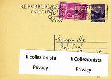 (2)1948 (3 Maggio) Centenario del Risorgimento affranc.con  lire 4 lilla e......