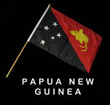 PAPUA NEW GUINEA Hand Waver Flag - 30x45cm