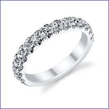VS1-VS2 F  .88ct Diamond Wedding Band 18K White Gold. 14 Nice Round Brilliants