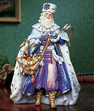 "Nib Santa Old World Victorian Christmas Porcelain 11"" T 2001 $300 Franklin Mint"