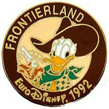 Euro Disney 1992 Opening Frontierland Donald Duck Pin