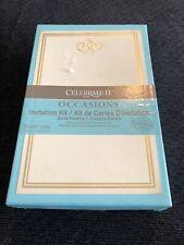 Gartner studio 49 Count Gold Heart Invitation Kit (All Occasion)