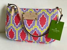 KATE SPADE NEW YORK CABANA TILE LINET MARASCHINO WRISTLET PURSE CLUTCH BAG $128