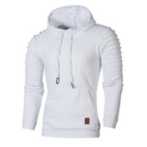 Stylish Men's Hoodie Tops Hooded Sweatshirt Coat Jacket Outwear Jumper Sweater