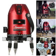 Automatische Laserwasserwaage 5 Linie 6 Punkte 4V1H Laser Ebene Werkzeug ,Rot