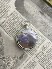 With Train On It Modern Mechanical Pocket Watch