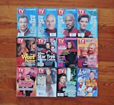 LOT OF 12 TV GUIDE Magazines Star Trek Next Generation Deep Space Nine Voyager