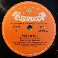 """Kurt Edelhagen - Amorcito Mio - Round About It - Polydor - /10"""" 78 RPM"""