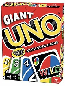 Brand New Giant Sized UNO Card Game 10.1 x 7.4 inches Perfect Gift