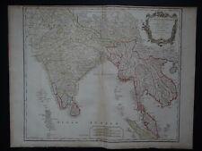 1751 Vaugondy Atlas Universel map India - Burma - Cambodia - Vietnam - Malaysia