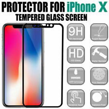 NEW iPhone X XS Tempered Glass Screen Protector 9H Full Coverage fit 5.8""