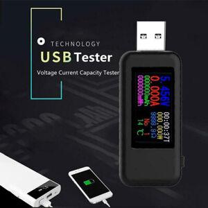 10 in 1 LCD Digital Dispay USB Tester Voltmeter Amperemeter Current Detektor