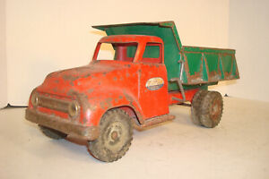 VINTAGE 1955 RED GREEN TONKA TOY FORD PICKUP DELIVERY DUMP TRUCK  PARTS RESTORE