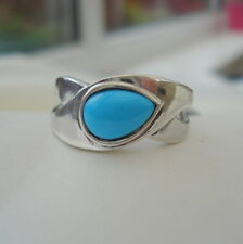 1.25ct Natural Arizona Sleeping Beauty Turquoise Sterling Silver Ring