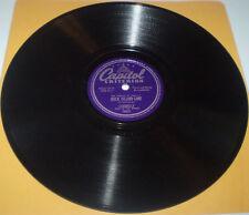 Shovel's Blues 78s Leadbelly Capitol 10021 Eagle Rock Rag / Rock Island Line