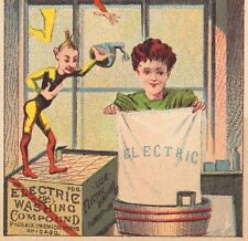 Electric Washing Compound 1800's Chicago Phoenix Chemical Works Pixie Trade Card
