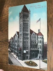 City Hall Syracuse New York NY Postcard