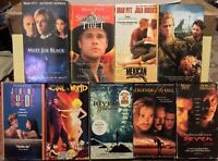 Brad Pitt Films VHS Lot Of 9 (Troy, Cool World, Seven, Legends Of The Fall, +)