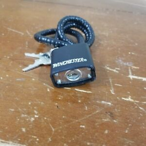 Winchester GUN CABLE LOCK Handgun Pistol Rifle Security Padlock #363035