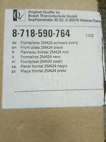 Buderus Frontplatte ZM424 schwarz Original von Bosch