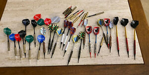 (Lot of 34)Metal Darts w/Plastic Tip Throwing Game Dart Recreation