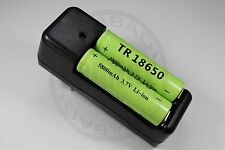 "CHARGEUR ""RAPIDE"" + 2 PILES BATTERIE RECHARGEABLE 18650 LI-ION 5800mAh BATTERY"
