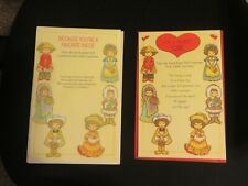 "Vintage Amer. Greeting Paper Doll ""Costumes From Other Countries"" Greeting Cards"