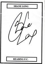 Ex Reading FC Shane Long Hand Signed Card Size A5