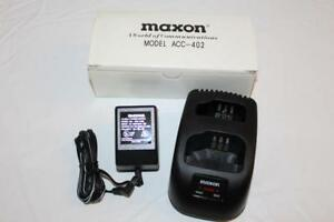 Maxon ACC-402 Desktop Charger for GMRS-21X Radio with ACC-210 Ni-Cad Battery