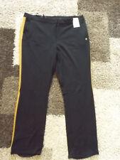 ULLA POPKEN ~ 50  schwarz ~ Stylische Hose ~ mit Absetzung ~ gerades Bein