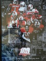 Louisville Cardinals Football All Century Team Poster 100th Anniversary