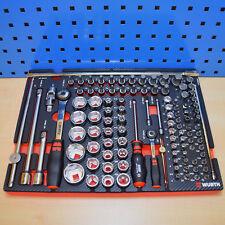 Würth Zebra Steckschlüsselsatz In Schaumeinlage für Werkzeugwagen Werkstattwagen