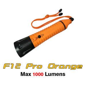 Fitech F12 Pro Cree XPL-V5 LED 1000 Lumens Diving Light Flashlight Torch-Orange