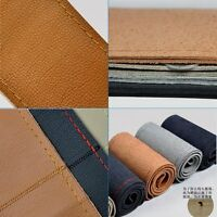 New Auto Genuine Leather DIY Car Steering Wheel Cover With Needles and Thread