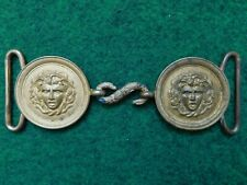 FRENCH MEDUSA HEAD OFFICER'S BELT BUCKLE