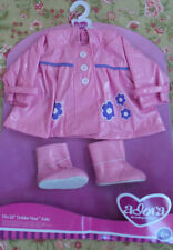 """Adora Doll Baby Clothes 20"""" Sprinkles pink Raincoat and Boots Toddler Time Nib"""