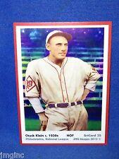 Chuck Klein, Philadelphia, ArtCard #35 - Baseball card  of HOF player c.1930s