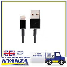 APPLE IPHONE IPAD CHARGER WIRE LIGHTNING CABLE 1M BLACK