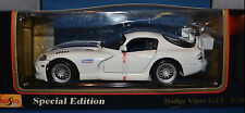 Maisto 31845 Dodge Viper GTS-R/GT2  1:18! White w/Blue Stripes! New! Diecast!