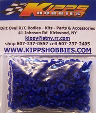 4-40 BLUE NYLON RC BODY FASTENERS 200 PCS DIRT OVAL MODIFIED SPRINT CAR EDM MDM